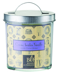 Bougies la Francaise Vanilla Creme Bruleee Candle w/Galvanized Lid