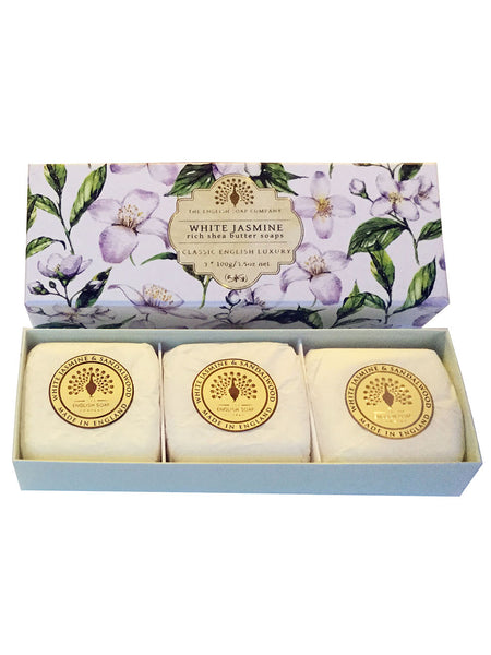 The English Soap Co. White Jasmine Gift Box Hand Soap