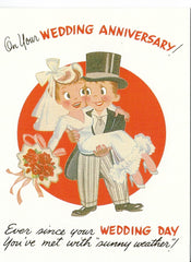 Anniversary Greeting Card - On Your Wedding Anniversary