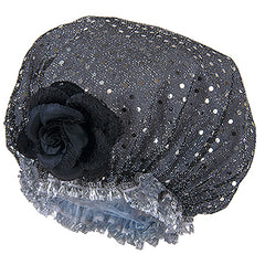 Fancy Shower Cap - Black Sparkle