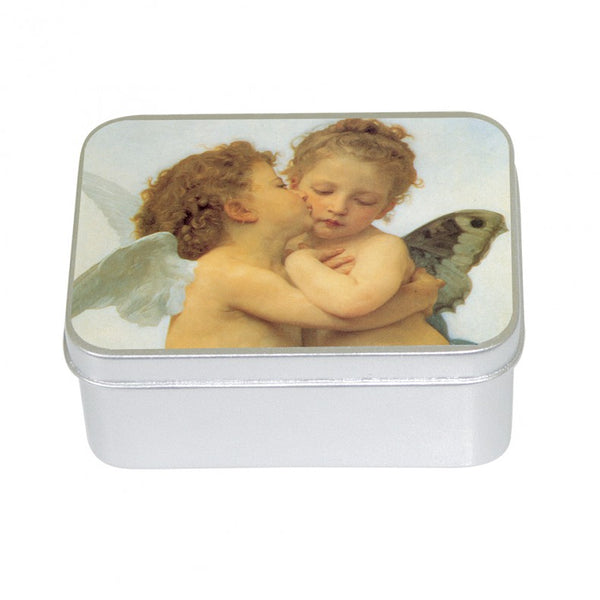 Le Blanc 100gm Soap Tin -Rose Cherubs-  William Bouguereau (1825 – 1905)