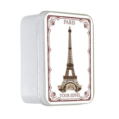 Le Blanc 100gm Soap Tin -Rose Eiffel Tower