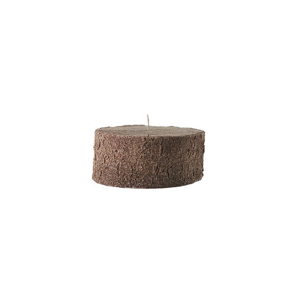 Bougies la Francaise Centerpiece Tree Log Candle - Dark Wood