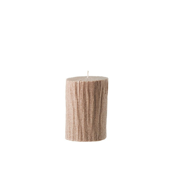 Bougies la Francaise Small Tree Log Candle - Light Wood