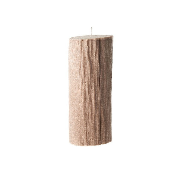 Bougies la Francaise Large Tree Log Candle - Light Wood
