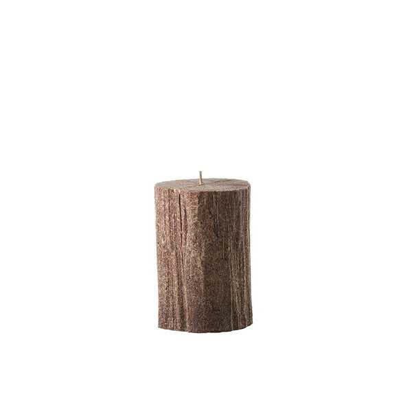 Bougies la Francaise Small Tree Log Candle - Dark Wood