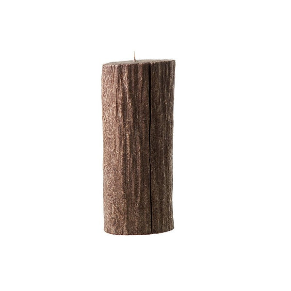 Bougies la Francaise Large Tree Log Candle - Dark Wood