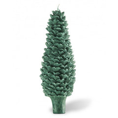 Bougies la Francaise Scented Pine Cone Tapered Candle - Green