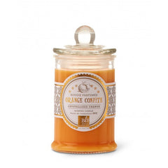 Bougies La Francaise Scented Candle in Glass Candy Jar - Crystallized Orange