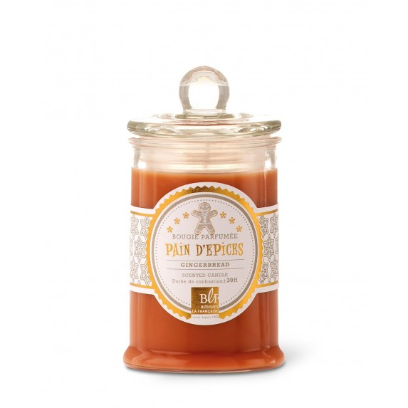 Bougies La Francaise Scented Candle in Glass Candy Jar - Gingerbread
