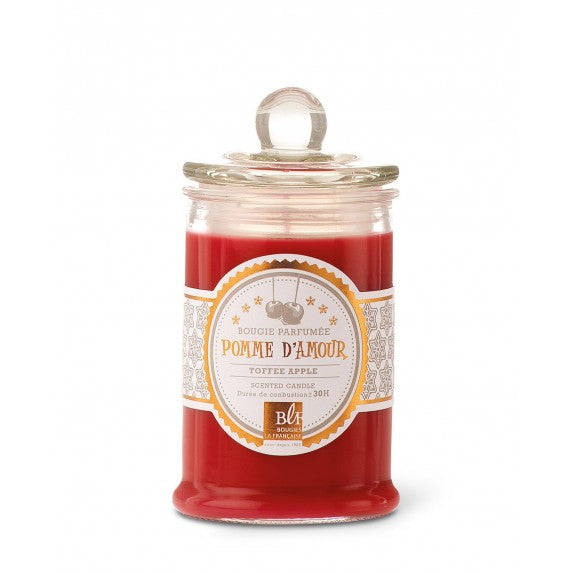 Bougies La Francaise Scented Candle in Glass Candy Jar - Toffee Apple