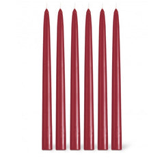 "Bougies La Francaise 12"" Tapered Dinner Candle - Bordeaux"