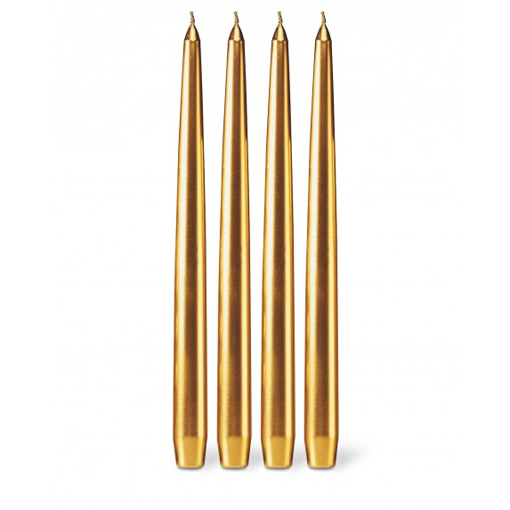 "Bougies La Francaise 12"" Tapered Candle - Gold"