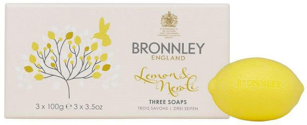 Bronnley Lemon & Neroli Soap - Boxed 3 x 100gm Hand Soaps