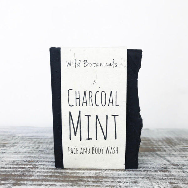 Wild Botanicals Charcoal Mint Soap
