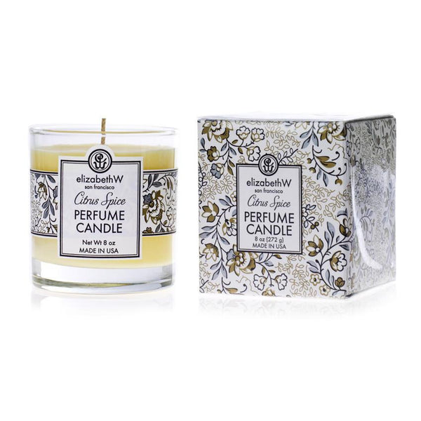 elizabeth W  Glass jar Citrus Spice Candle
