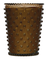 Simpatico NO. 86 COCOA ALMOND GLASS HOBNAIL CANDLE