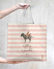 TokyoMilk Tote Bag - DONKEY ANYTHING IS POSSIBLE MARKET TOTE
