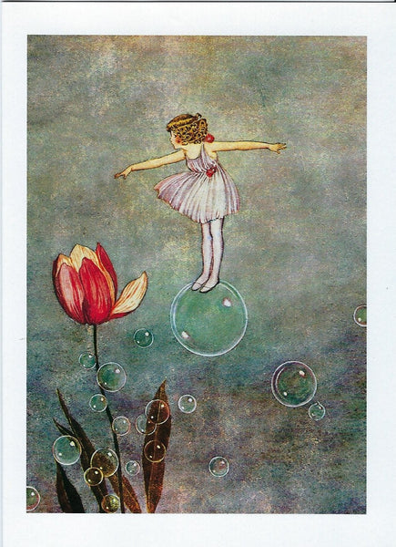 All Occasion Greeting Card - Floating on a Bubble