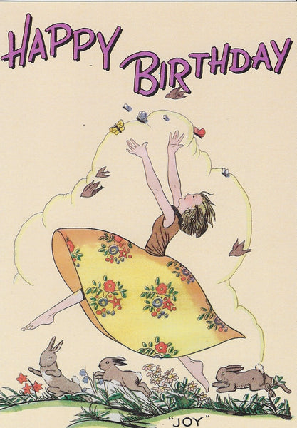 "Birthday Greeting Card - Happy Birthday ""Joy"""