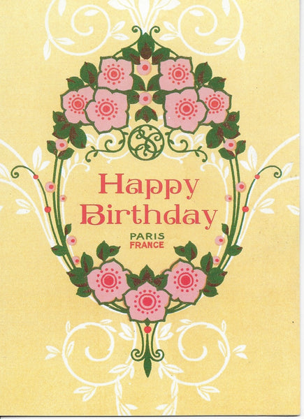 Birthday Greeting Card - Happy Birthday Paris France