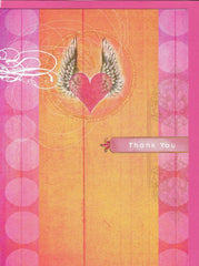All Occasion Greeting Card - Heart Wing Thank You