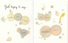 Birthday Greeting Card - All in a Lather