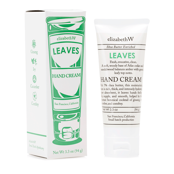 elizabeth W Small Batch Apothecary Leaves Hand Cream