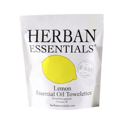 Herban Essentials Essential Oil Towelettes - Lemon