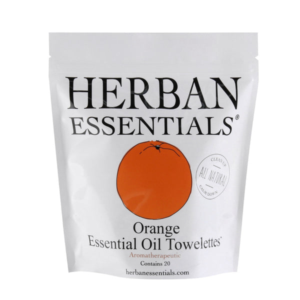 Herban Essentials Essential Oil Towelettes - Orange