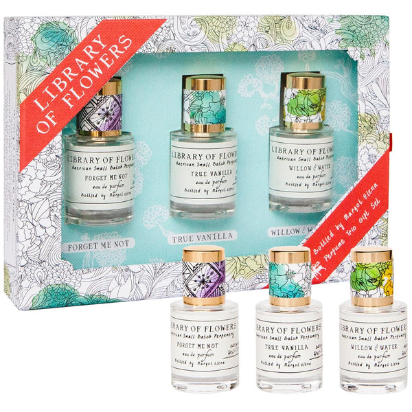 Library of Flowers PERFUME TRIO GIFT SET