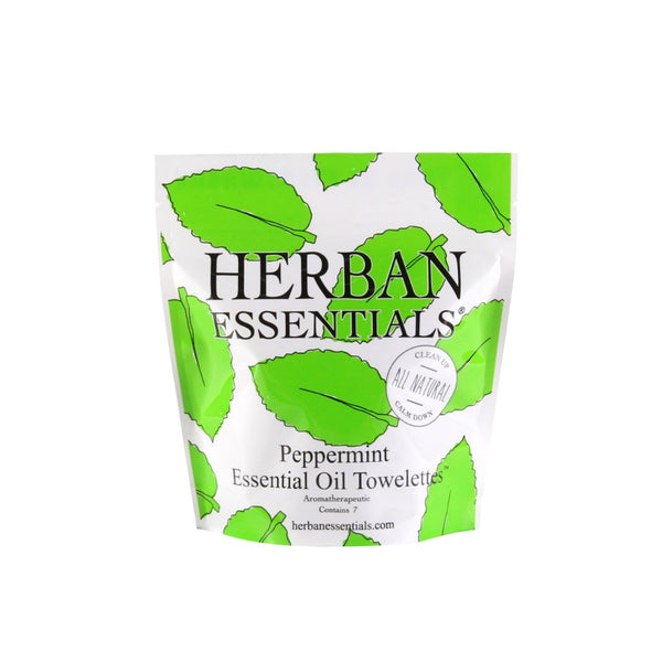Herban Essentials Essential Oil Towelettes - Peppermint Mini-Bags