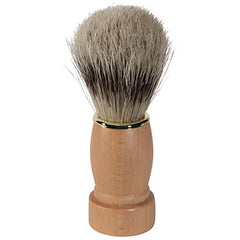 Bristle Shave Brush w/Natural Wood Handle