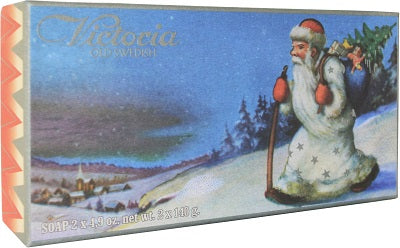 Victoria Swedish Christmas Soaps - Santa White Suit