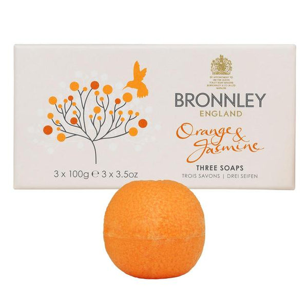 Bronnley Orange & Jasmin 3 x 100gm Hand Soaps
