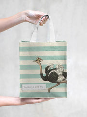 TokyoMilk Tote Bag - OSTRICH PARTY LIKE A ROCKSTAR SMALL TOTE