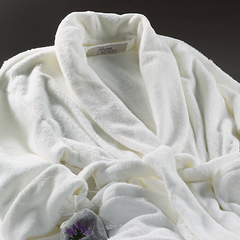 Ultra-luxe Plush Robe - Ivory - Sonoma Lavender Shop - 1