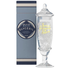 La Societe Parisienne de Savons Glyceril (Vanilla & Milk) Bath Salts in a Jar - Hampton Court Essential Luxuries