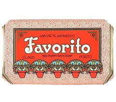 Claus Porto Deco Favorito - Red Poppy Scented Bath Soap