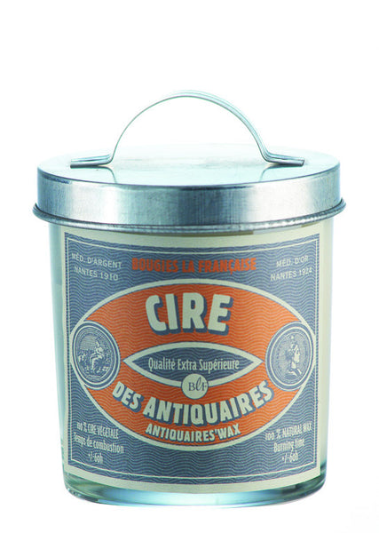 Bougies la Francaise Artisan Antiquaires Wax Candle w/ Galvanized Lid