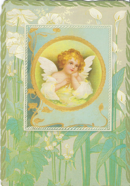 Friendship Greeting Card - Art Nouveau Angel (Thinking of You)