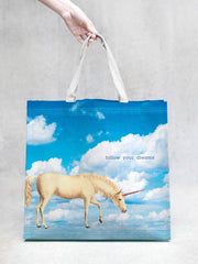TokyoMilk Tote Bag - UNICORN FOLLOW YOUR DREAMS MARKET TOTE