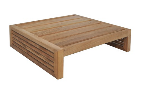 Louver Coffee Table - Teak Frame
