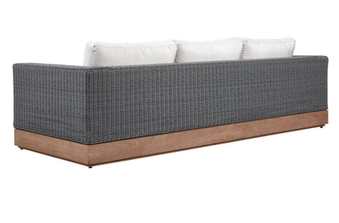 Shown with Teak Base and Grey Weave with Sunbrella Canvas Canvas Fabric