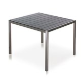 Shown in Stainless Steel Frame and Syn-Teak Grey