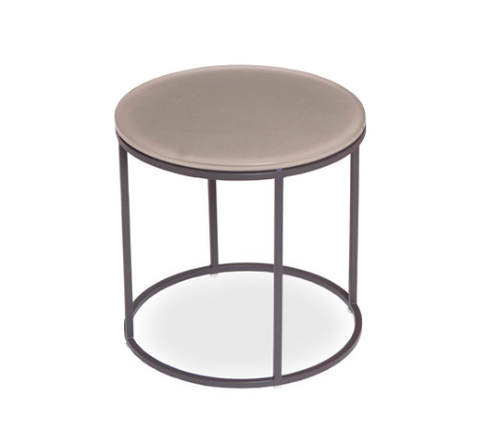 Shown in Round Table with Asteroid Frame and Taupe Etched Glass