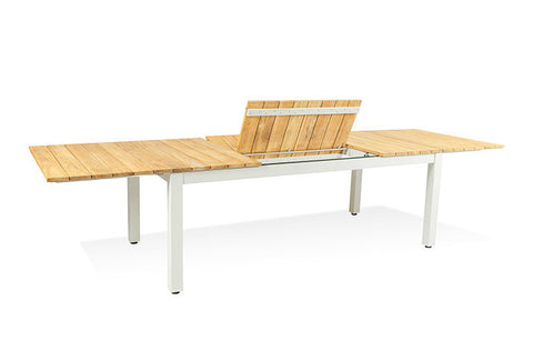 Shown in Teak finish with aluminum legs