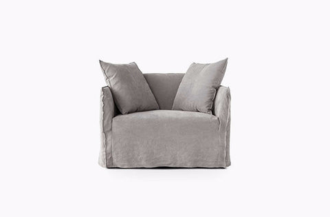 Shown in Italian Washed Linen Grey