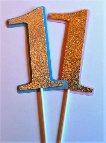 1st Birthday Glitter Cake topper or Centerpiece