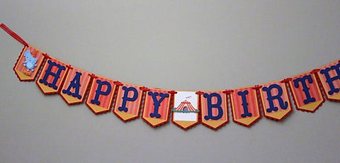 Carnival - Circus Birthday Banner